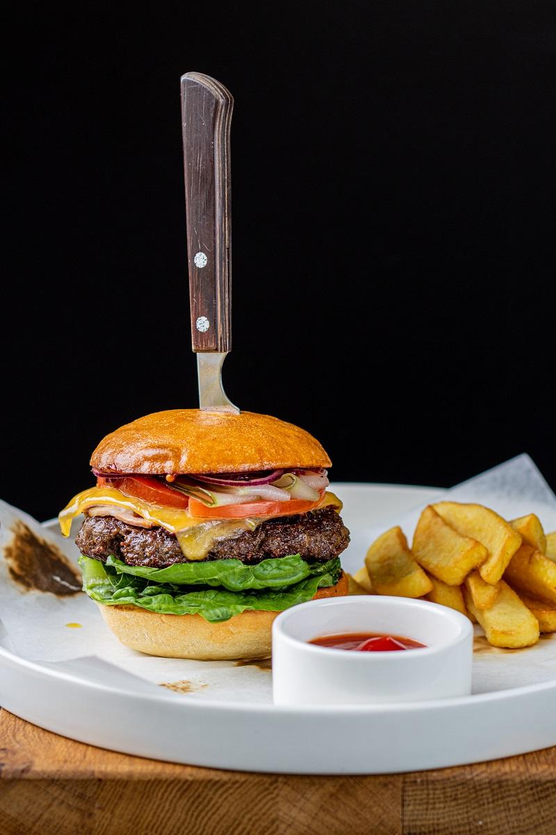 Fotografia kulinarna burger